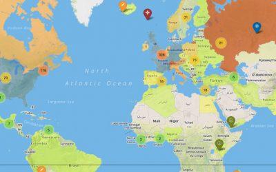 La mappa dei premi Nobel della storia