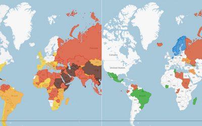 La libertà di stampa nel mondo