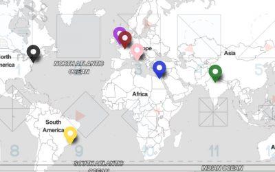 La mappa (e l'origami) dei monumenti famosi