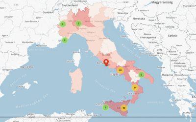 Mafia: i beni confiscati nelle regioni italiane e i comuni sciolti