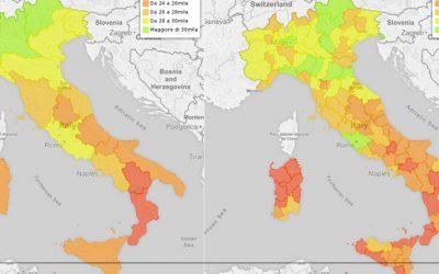 Gli stipendi nelle Regioni e Province italiane