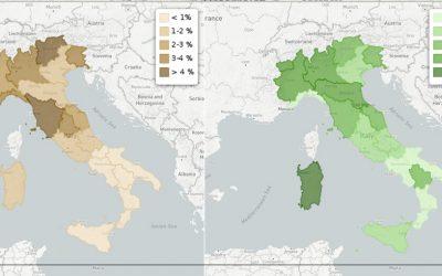 Agriturismi e aziende agricole nelle regioni italiane