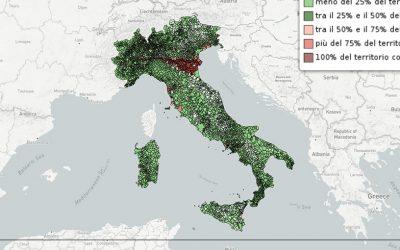 La mappa del rischio idrogeologico nei comuni italiani
