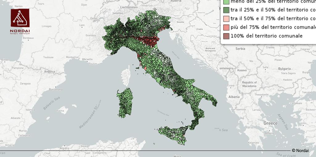 Reddito pro capite comuni italiani