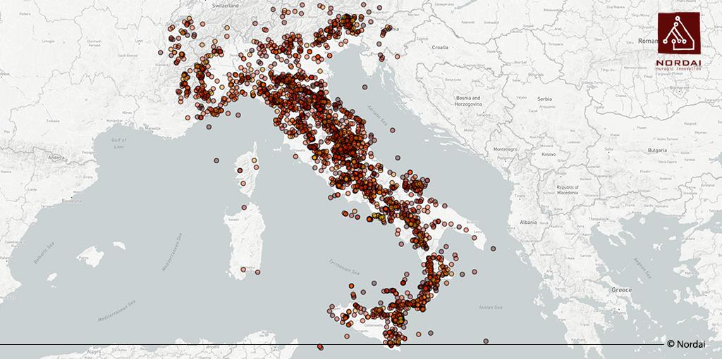 Cartina Italia Terremoti.La Mappa Dei Terremoti Italiani Dall Anno 1000 Ad Oggi Geonue