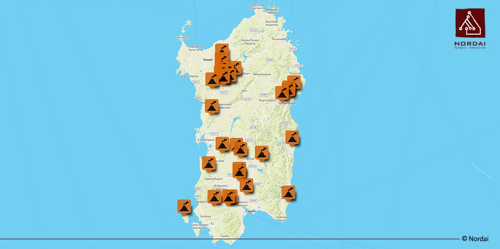 Cartina Sardegna Nurri.I Vulcani Spenti Della Sardegna Geonue Il Gis Nel Cloud