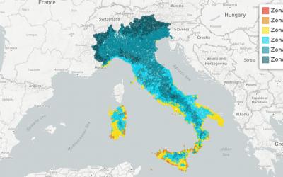 Le zone climatiche nei comuni italiani