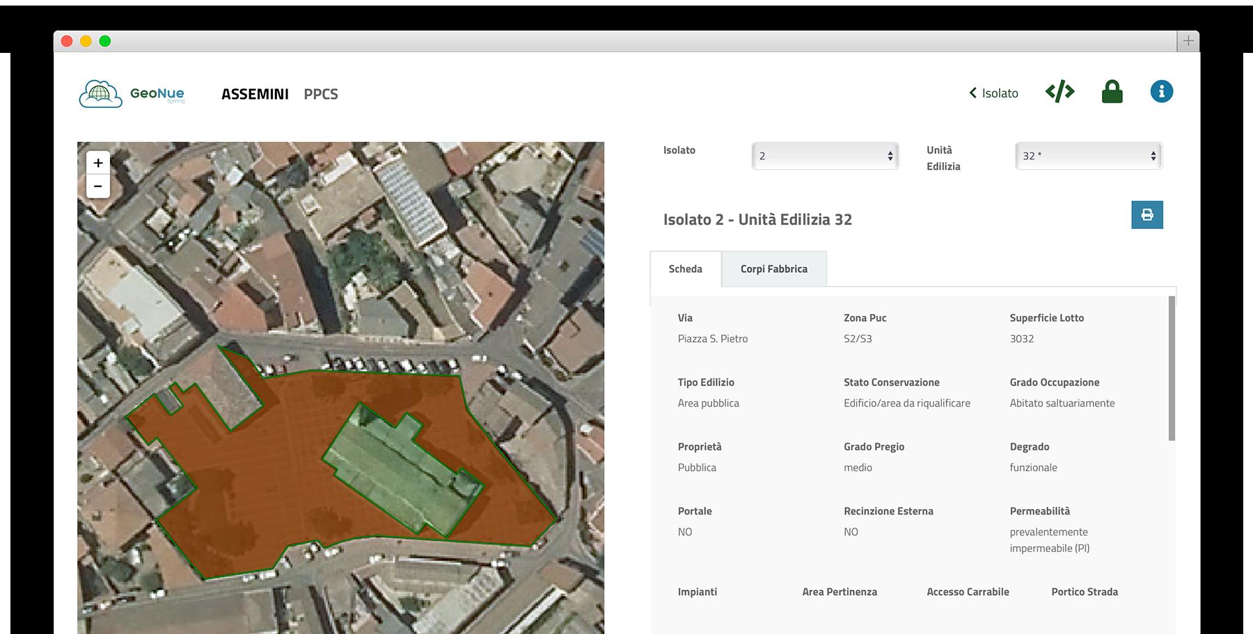 Le mappe dei piani urbanistici
